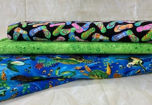 Tutles Flip flop fabric